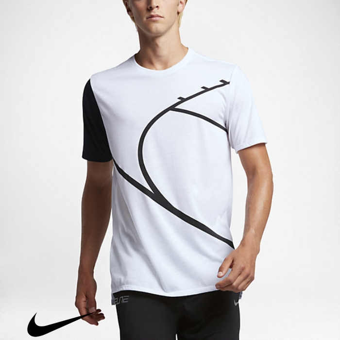 Nike Court Graphic T-Shirts Mens White/Black Basketball Individual EILMRVZ238