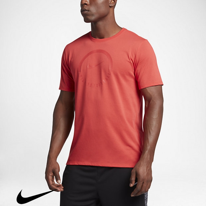 Nike Dry Helpful Brand T-Shirts Mens Ball Red Track BJKLNTUVZ9