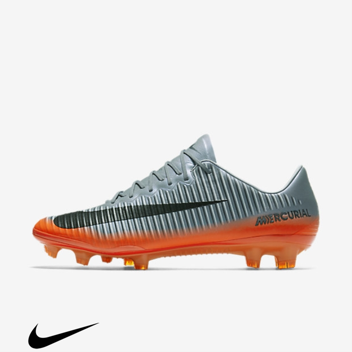 Nike Mercurial Vapor Well-known XI CR7 FG Firm-Ground Soccer Shoes Crimson/Metallic H Cool Grey/Total Grey/Wolf ABDKOTW126