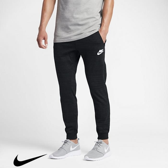 Nike Newly Sportswear Advance Mens Joggers 15 Knit Black/Heather/White CGHIQSV238