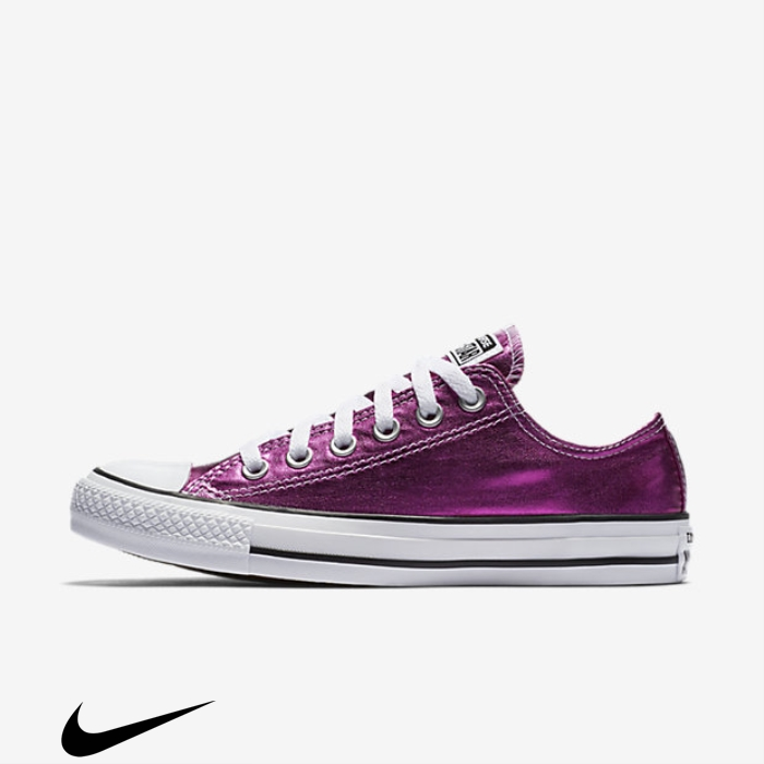 Converse Chuck Taylor All Star Incorporates Pink Low Shoes Top Metallic NQST035789