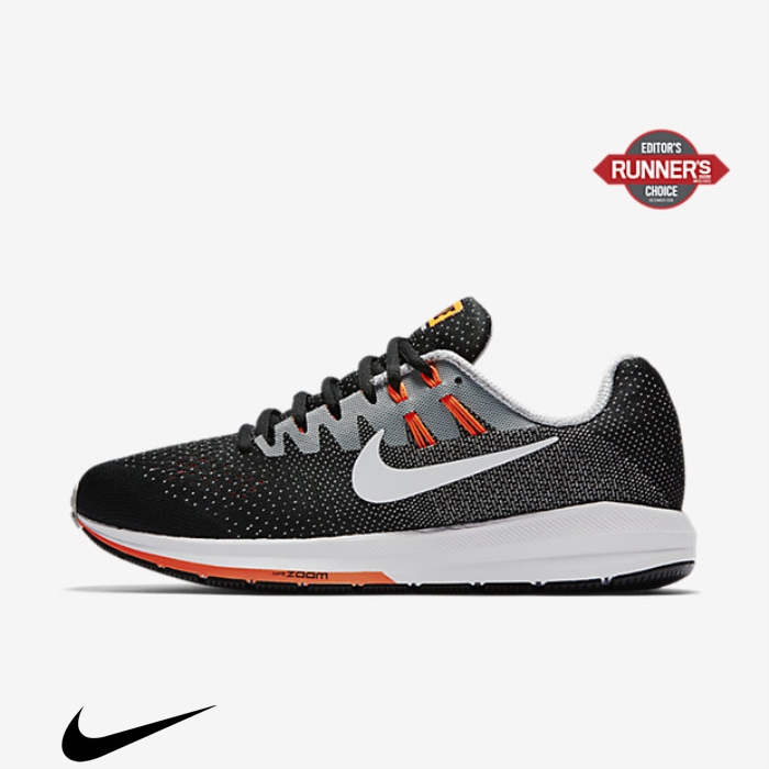 Nike Air Zoom Structure 20 Black/Matte Booming Silver/Hyper Shoes Orange/White Running ELORTVWYZ9
