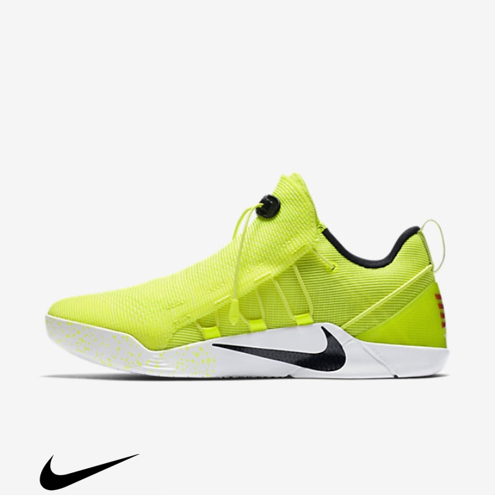 Nike Kobe Basketball AD NXT Volt/White Commodity Shoes FHKOQRXY13