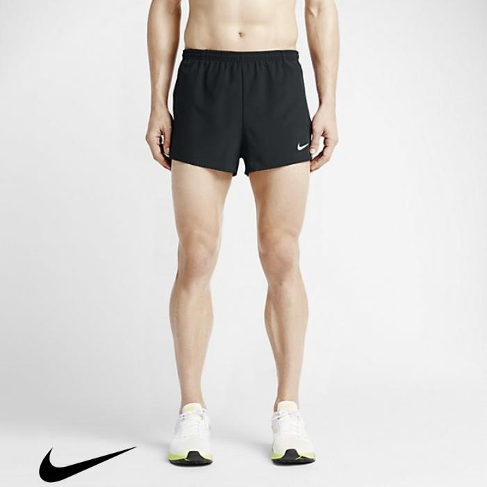 Nike Tempo Mens 2 Team Vendible Black/Team Running White Shorts BEFGHMNRY7