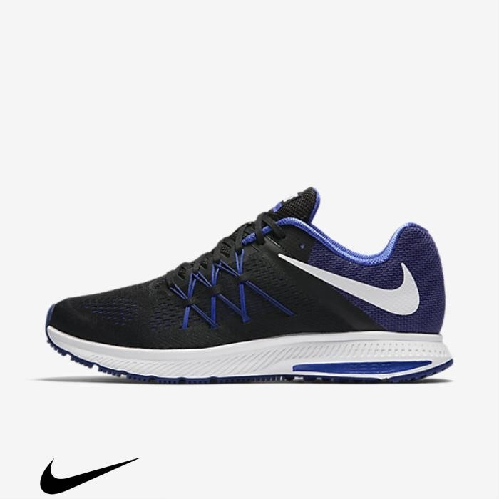 Nike Zoom Winflo 3 Running Royal Black/Paramount Blue/Deep Wholesale Blue/White Shoes JLNPQSU134