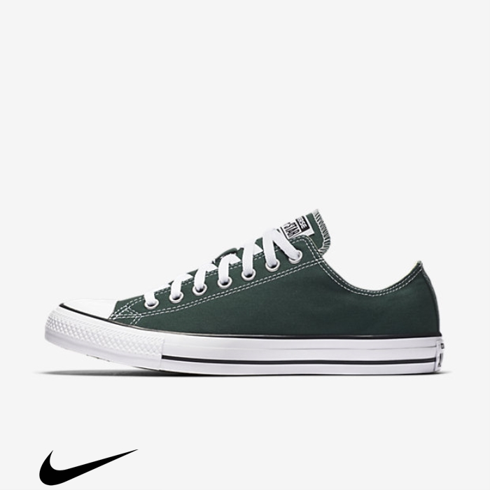 Converse Chuck Taylor All Green Beloved Star Shoes Low Top CDMNPQRTUZ