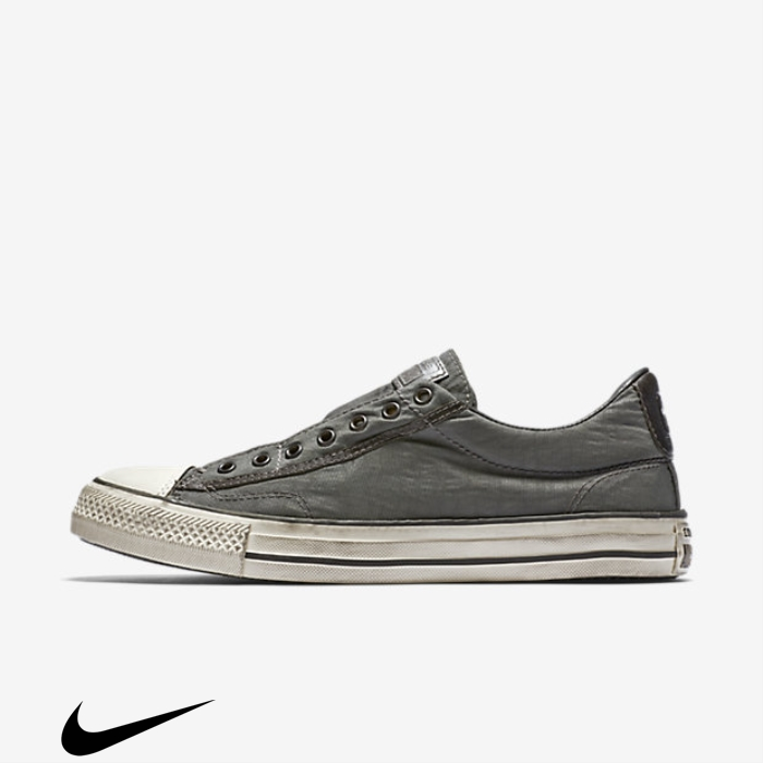 Converse x Assorted John Varvatos Chuck Taylor All Star Vintage Low Shoes Grey Dark Slip-On Top BDHKMZ5679