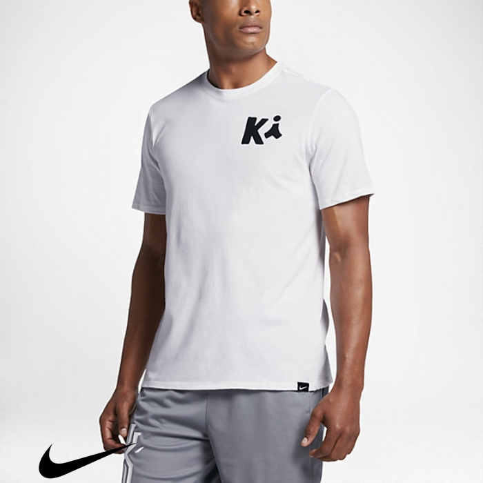 Nike Art Skillful White/Black Kyrie T-Shirts Mens BKQRSTYZ07