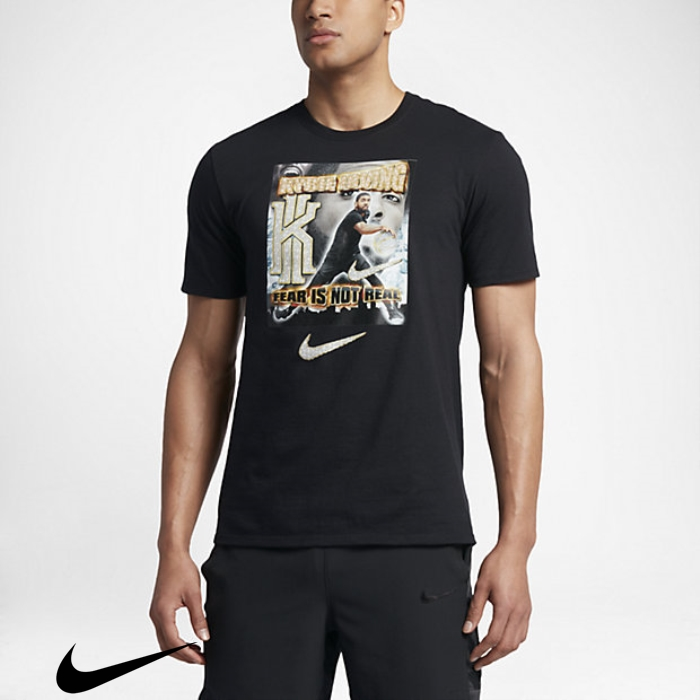 Nike Basketball x Pen  Mens Specially Kyrie T-Shirts Pixel Black CDEIPRVZ36