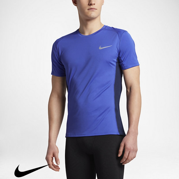 Nike Dry Miler Mens Paramount Blue Blue/Binary Desirable Running Top BELQRTY578