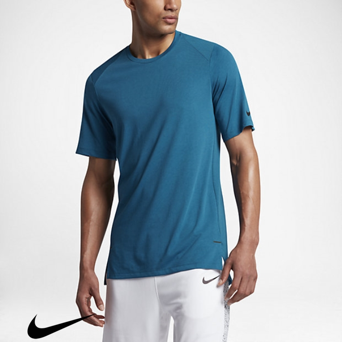 Nike Elite Mens Short Top Popularity Blue/Black Industrial Basketball Sleeve DIMNOQWZ67