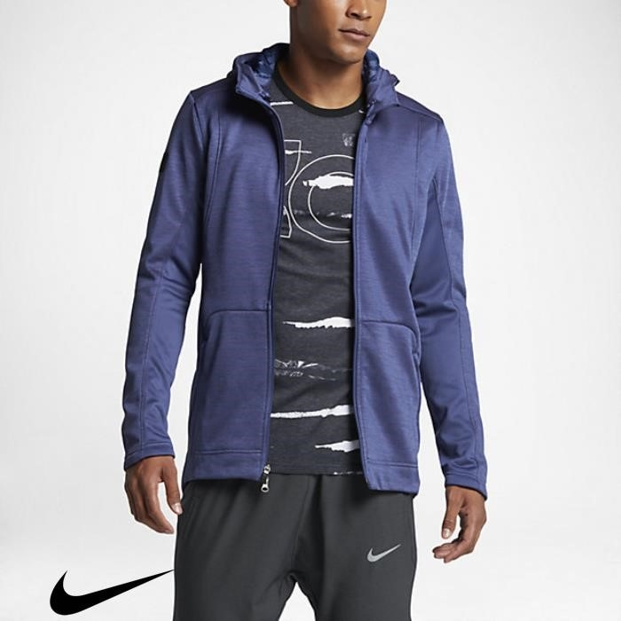 Nike Extended Therma KD Hyper Elite Dark Purple Dust Mens Hoodies BELOTXZ369