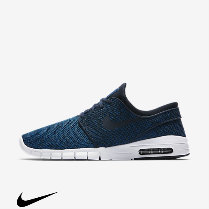 Nike SB Stefan Janoski Max Skateboarding Advocate Shoes Blue/Light Industrial Blue/Obsidian Armory Blue/Photo BEFGJQY089