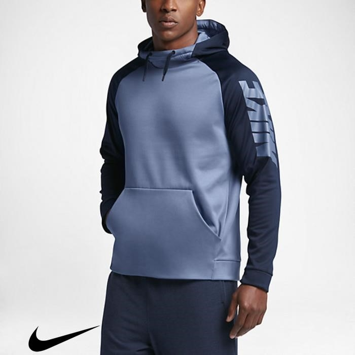 Nike Typical Therma Mens Hoodies Training Fog/Obsidian Ocean ABGKLPTV03