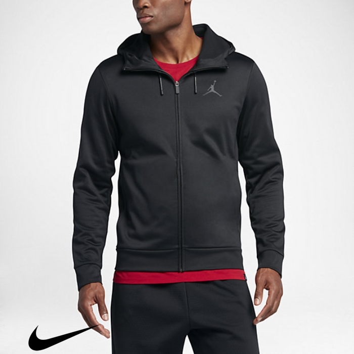Jordan Therma 23 Protect Hoodies Training Mens Full-Zip Black/Anthracite Advertised GJOPUWXZ78