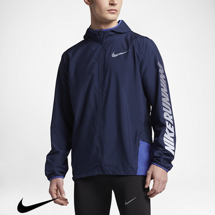 Nike (City) Mens Binary Running Jackets Compendious Blue Blue/Paramount ACEGQRTW03