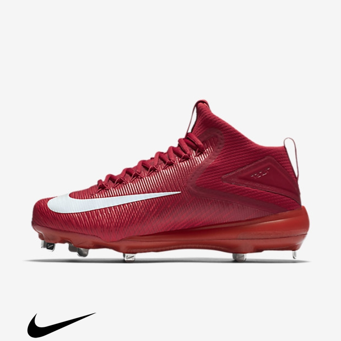 Nike Force Zoom Trout 3 Baseball Additional Shoes Light Crimson/Varsity Red/White FHKMOPTY57