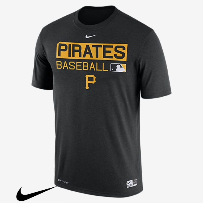 Nike Legend Team Issue Black (MLB T-Shirts Pirates) Mens Sumptuous ACKNOPTZ68