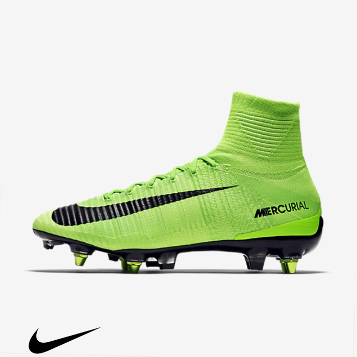 Nike Mercurial Superfly V SG-PRO Anti-Clog Soft-Ground Green/White Shoes Sensational Electric Soccer Green/Ghost EFIJPSYZ06