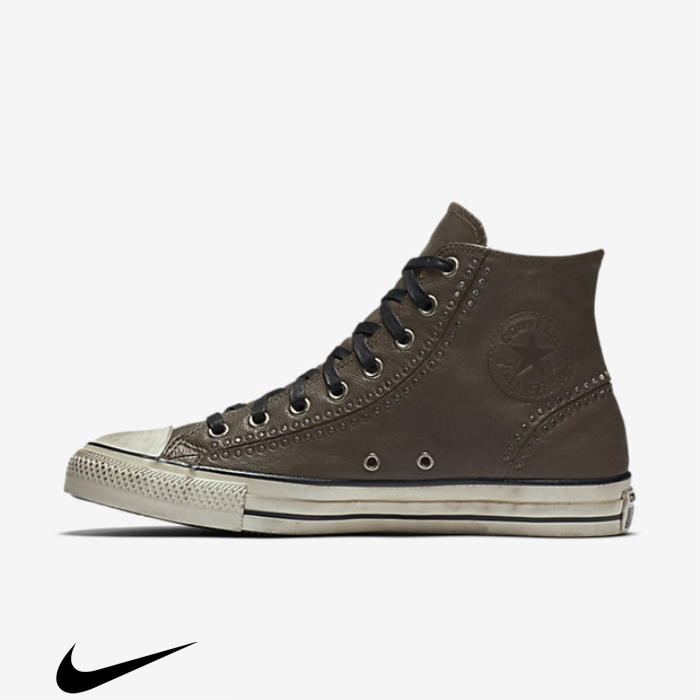 Converse x John Varvatos Chuck Taylor All Star Split Seam Commend Studded Top Chocolate Shoes High Dark CFMUVYZ569