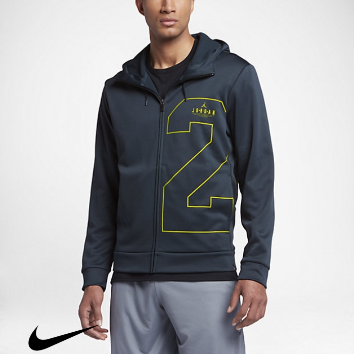 Jordan Enjoy Therma Two-Three Mens Lime Navy/Electric Hoodies Armory Basketball DEHIPTXY03