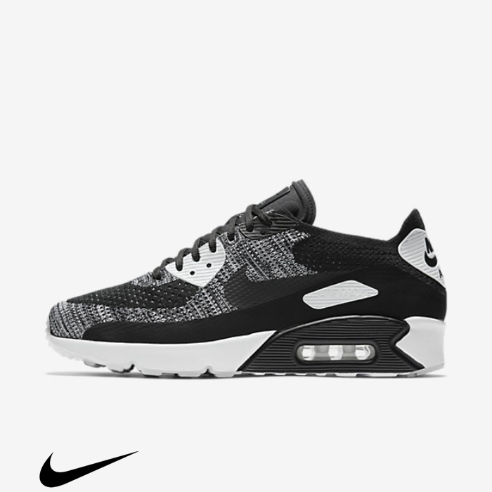 Nike Air Max Remarkable 90 20 Shoes Ultra Black/White Flyknit BEUWXY2679