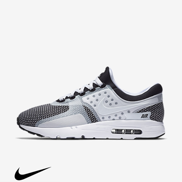 Nike Air Max Shoes Black/Wolf Grey//White Thought Essential Zero BEGKLTV134