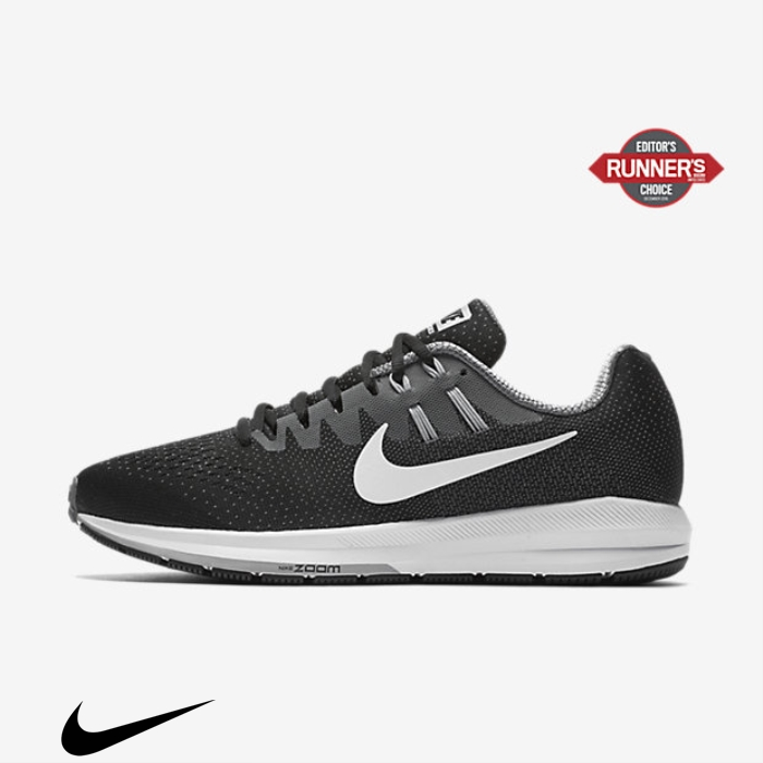 Nike Air Zoom Structure 20 Grey/Wolf Black/Cool Considerate Grey/White Running Shoes FGMPRTXY02