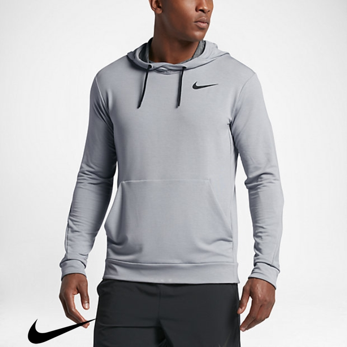Nike Dry Wolf Required Hoodies Mens Training Grey/Black AFHQRUY379