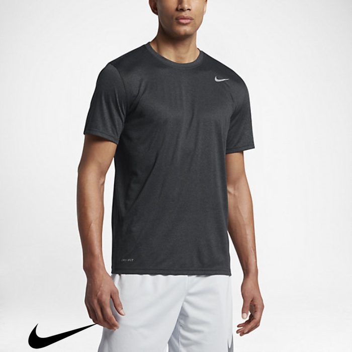 Nike Legend 20 Flamboyance Black/Anthracite/Heather/Matte Training T-Shirts Mens Silver DFGJPUXZ14