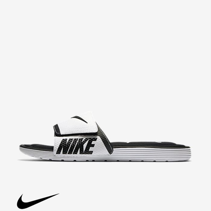 Nike Sandals Comfort Trusty Slide Solarsoft Black/White CEGKOPWX02