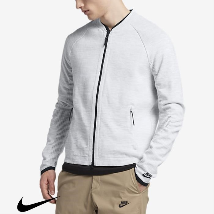 Nike Sportswear Tech Knit Mens Recommendations Grey/Black White/Pure Platinum/Wolf Jackets BCGMRU2478