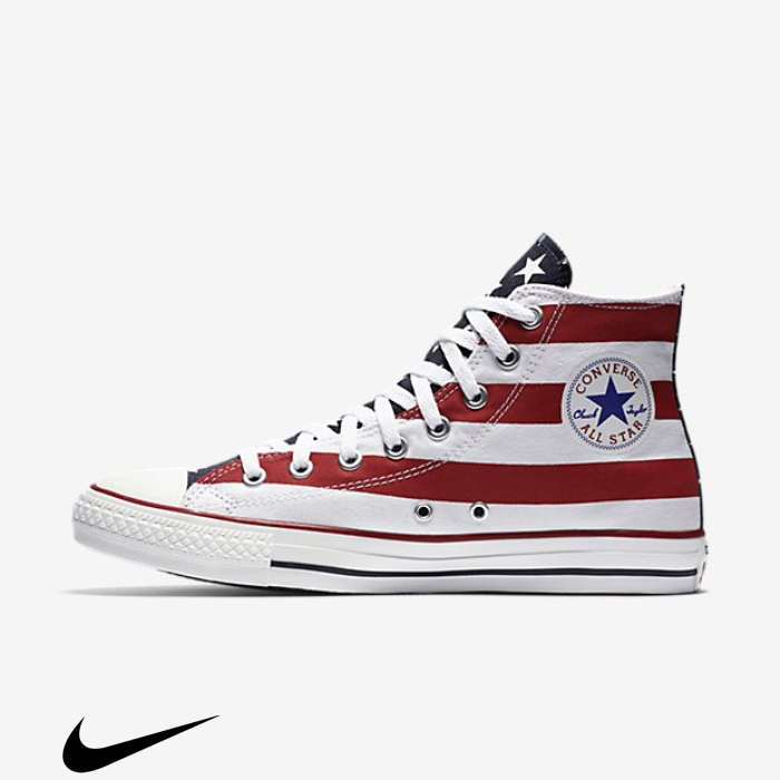 Converse Accurate Chuck Taylor Multicolored Americana High Top Shoes ACEVYZ1239