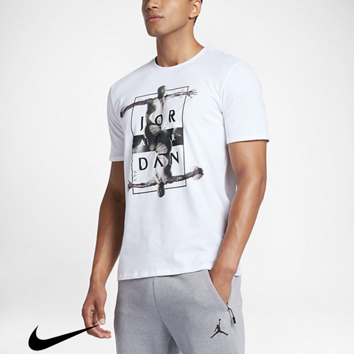 Dynamic White/Black T-Shirts Mens Fashionable Jordan ABDFNQSV58