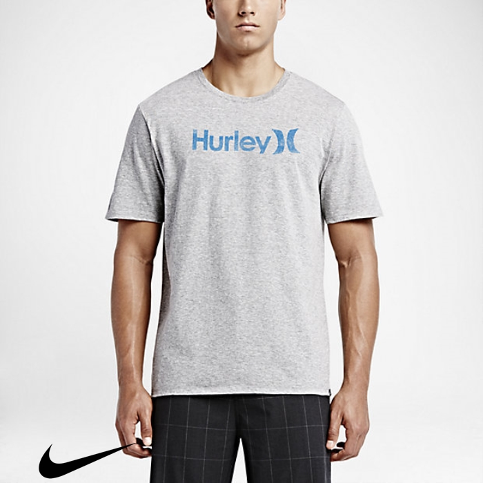 Hurley One And Only Push Through Grey Heather Dark Comparative T-Shirts Mens EGIJPSTU29