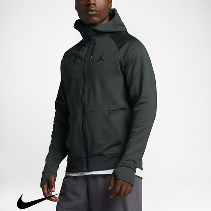 Jordan 360 Fleece Full-Zip Green/Black Training Mens Grove Exquisite Hoodies FHKMPRWX29