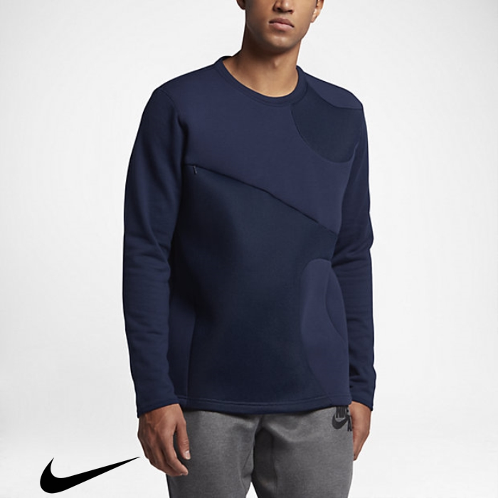 Nike Air Mens Aggregation Sweatshirt Binary Blue Crew IJLRUX3579
