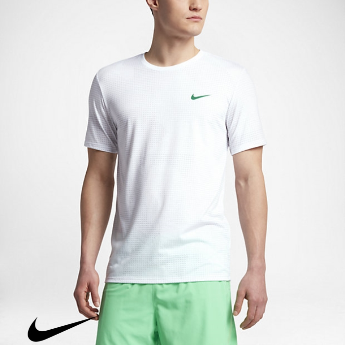 Nike Comparative Dry Mens Green Grey/Stadium Running T-Shirts White/Wolf AGJLQRW029