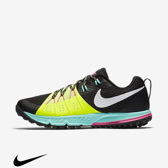 Nike Comparatively Air Zoom Wildhorse Running Shoes Turquoise/White 4 Black/Volt/Hyper AEFLRW1367