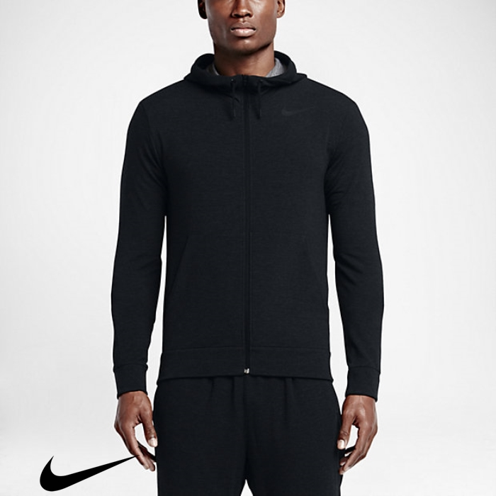 Nike Dry Hoodies Training Substantial Men\s Hematite Black/Pure/Metallic BFLMTX0149