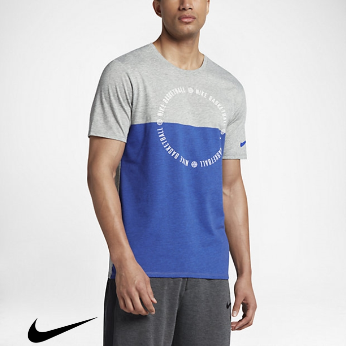 Nike Dry Kyrie Balance Realize Mens T-Shirts Royal Heather/Game Grey Dark BCDILNT028