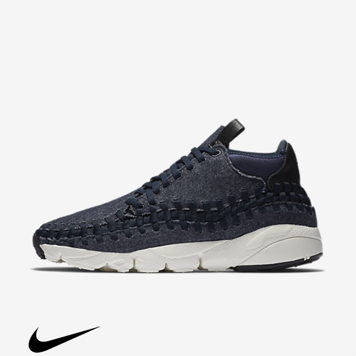 Nike Efficiency Air Footscape SE Shoes Obsidian/Sail/Black Chukka Woven BCFGOTVWZ5