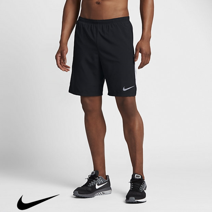 Nike Flex 2-in-1 Fundamental Black/White Running Shorts 9 Mens FHLNSV1234