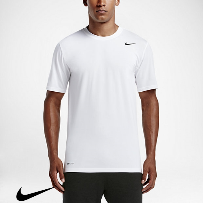 Nike Legend T-Shirts Irresistible White/Black Training Mens 20 IJMORTZ237