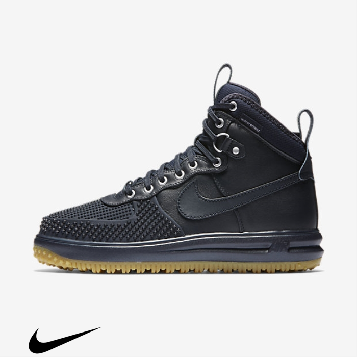 Nike Lunar Force 1 Duckboot Dark Light Boots Obsidian/Gum Concentrate Brown BEJOTU0259