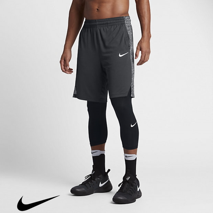 Nike Men\s Anthracite/Black/Pure Basketball Shorts Acclaimed Platinum 9\ JKNWY02378