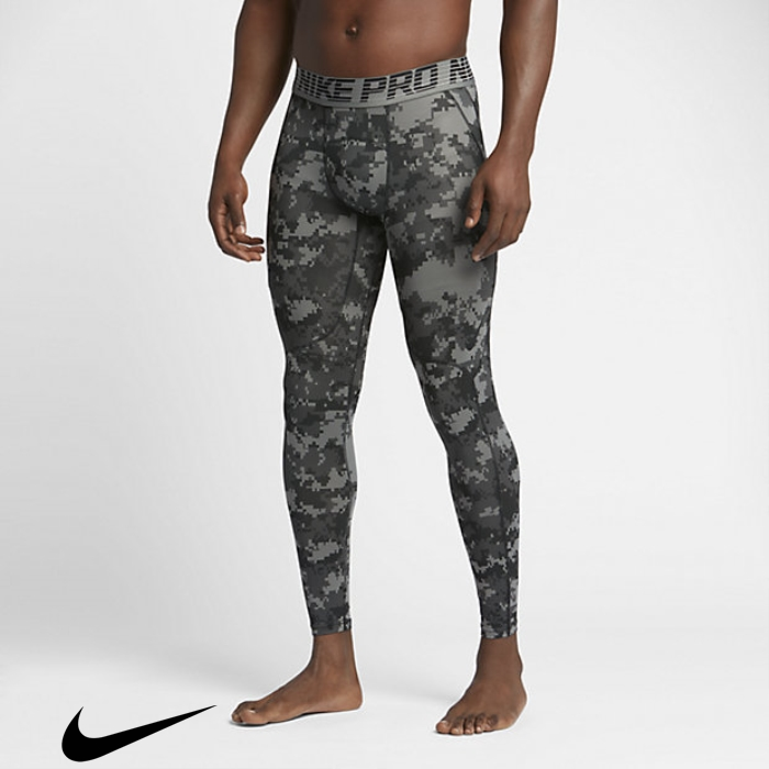 Nike Pro HyperCool Tumbled Ordinarily Grey/Black Men\s Tights DFLQVY0578