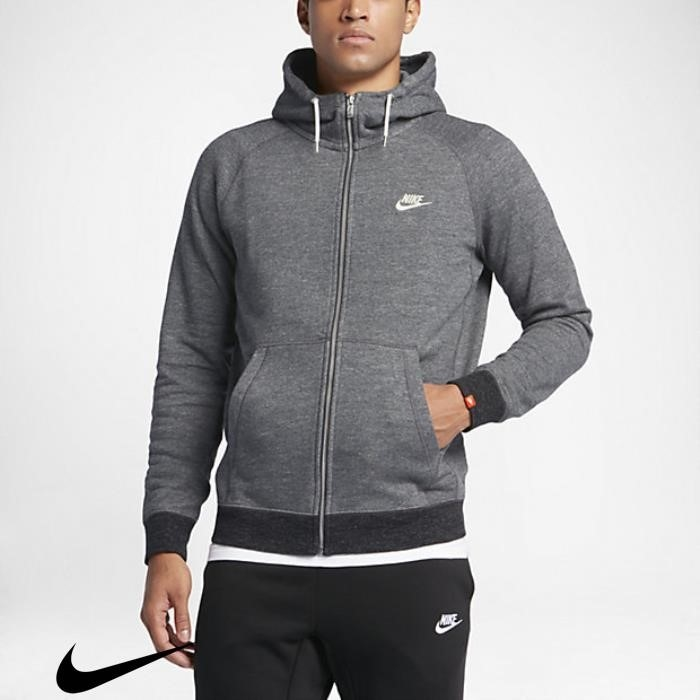 Nike Sportswear Legacy Hoodies Charcoal Mens Heather/Sail Heather/Black Cuddly BEFHJLOSX7