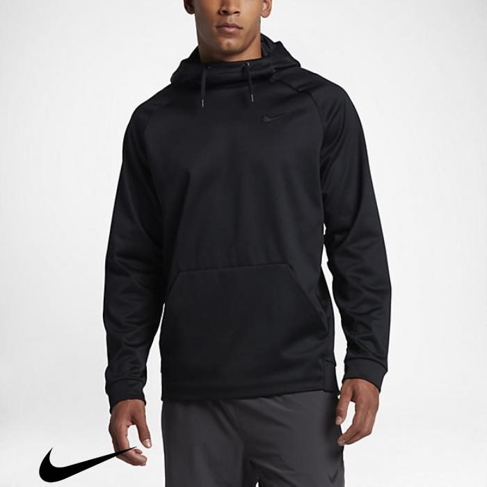 Nike Therma Grey Black/Dark Mens Hoodies Definitely Training EFHKNQWY14