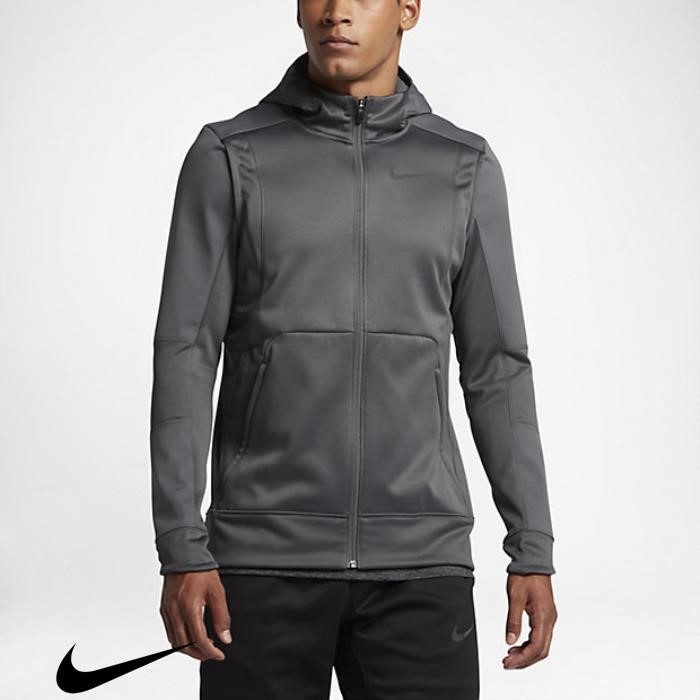 Nike Therma Hyper Steady Elite Dark Basketball Grey Mens Hoodies FGHNPVX457